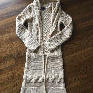 BEBE beige sweater duster